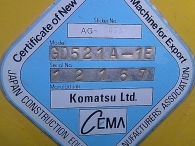 Motoniveladora Komatsu GD 521_A 1E, 1999, 22.238 horas.