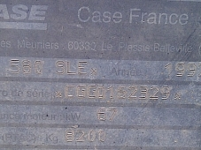 CASE 580 Super LE, del año 1997, 4521 horas.