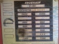Bañera de hierro de 3 ejes, suspensión neumática, primer eje elevable, frenos de tambor, ruedas al 80%. Año fabricación 2004 1.35x2.3x7.7= 24m3
