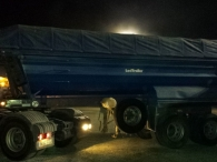 Tipper trailer brand Gontrailer, 2 axels, spring suspension, year 1998, especial for tractors 4x4 y 6x4.