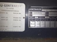 Bañera basculante marca Gontrailer, de 2 ejes de ballesta, año 1998, especial tractoras 4x4 y 6x4.
