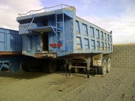 Tipper trailer bran Pepin, 2 axels double wheel, spring suspension, year 1990