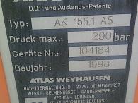 Grua Atlas, AK 155.1 A5, de 14m, año 1998