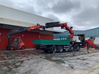 New IVECO ASTRA HD9 84.50, 8x4 of 500cv, Euro 6 with automatic gearbox.  Open box with crane Palfinger PK78002 with JIB PJ170E.