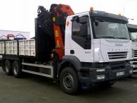 Camión IVECO AD260T33, 6x4 con grua Palfinger PK36002