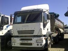 Tractora IVECO AT440S43TP eurotronic con intarder y equipo hidraulico.  Bañera de basculante de Aluminio de 3 ejes.  VENDIDO