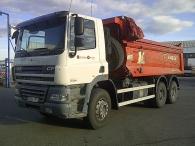 Dumper DAF CF85.360, 6x4, año 2007