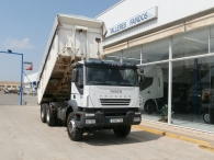 Used Tipper truck IVECO AD380T35, 6x4, with 156.515km, the cover is new. Year 2006