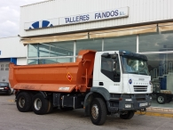 Tipper truck IVECO AD380T38, 6x4, year 2006, with 146.335km, box 14m3