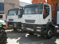 Camión usado, dumper marca IVECO AD380T38, 6x4, manual del año 2007, con caja Meiller Kipper.