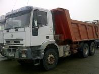 Camión Dumper IVECO MP380E38, 6x4, con caja Meiller Kipper, del año 2003.