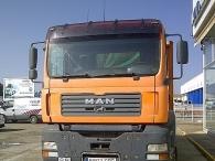 Dumper usado MAN TGA 360, 6x4, del año 2002 con caja Meiller Kipper.