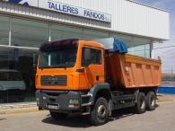 Dumper MAN TGA 360A, 6x4 del año 2004, con caja Meiller con sobrelateral, 16m3