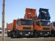 Dumper MAN TGA 360, 6x4, del año 2003