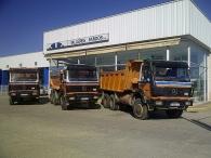 Tres Dumper usados marca Mercedes, 2 unidades modelo 2629AK, 6x6 u uno modelo 2635AK, 6x6 de los años 1989 y 1991.