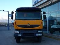 Dumper Renault Kerax 410.35 dxi, motor volvo, Euro 4, 6x4, año 2006, 139.928km, caja Meiller.