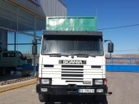 Camión Scania 113 HL, 6x2, con caja basculante de 6.3x2.5m, año 1989.