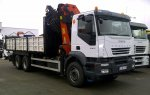 Box with crane IVECO AD260T33