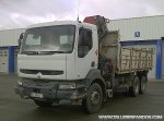 Tipper with crane Renault 400.26