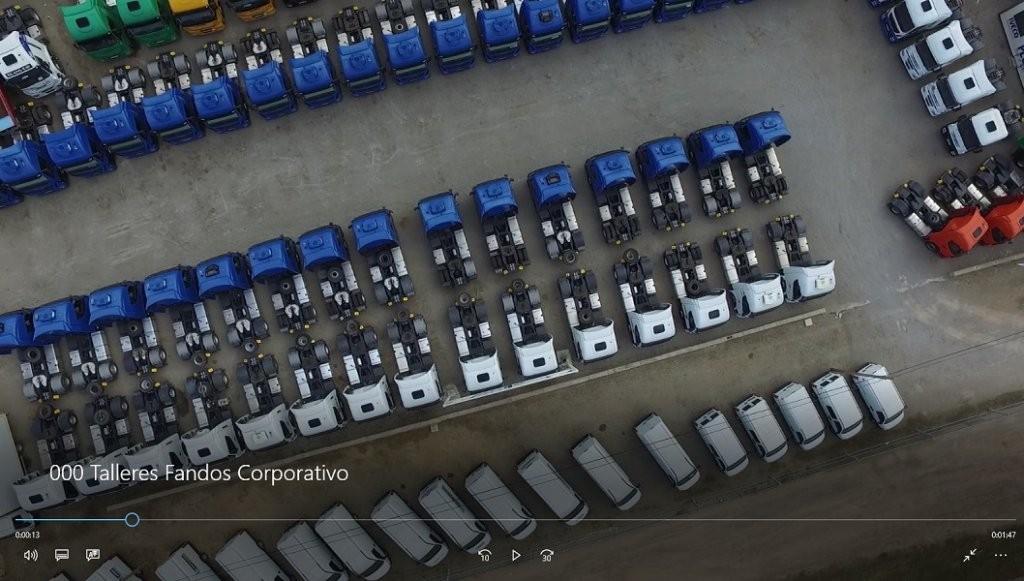 Campa de vehículos de ocasión de Talleres Fandos en Teruel.