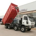 Entrega de dumper Iveco ASTRA HD8 86.56 con caja Cantoni